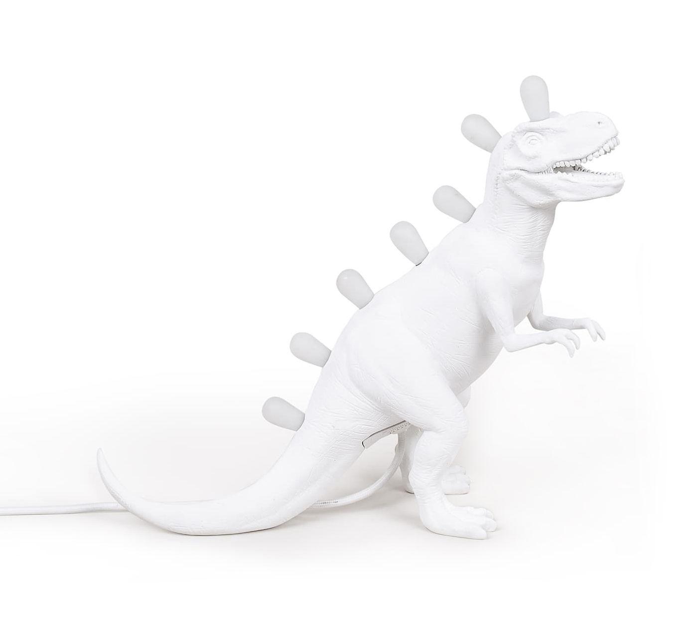 Decoration - Children's Home Accessories - Jurassic Table lamp - / Tyrannosaurus by Seletti - Tyrannosaurus / White - Resin