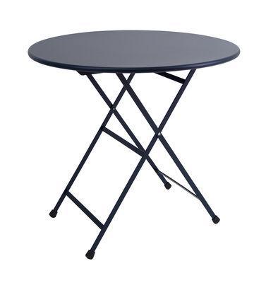 Table pliante Arc en Ciel / Ø 80 cm - Emu bleu foncé en métal