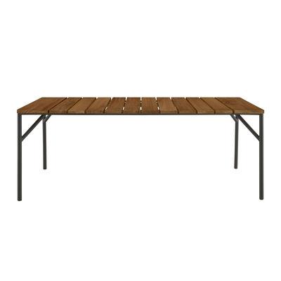 Jardin - Tables de jardin - Table rectangulaire Lapel / 200 x 90 cm - Teck - Cinna - Teck / Charbon - Aluminium laqué, Teck massif