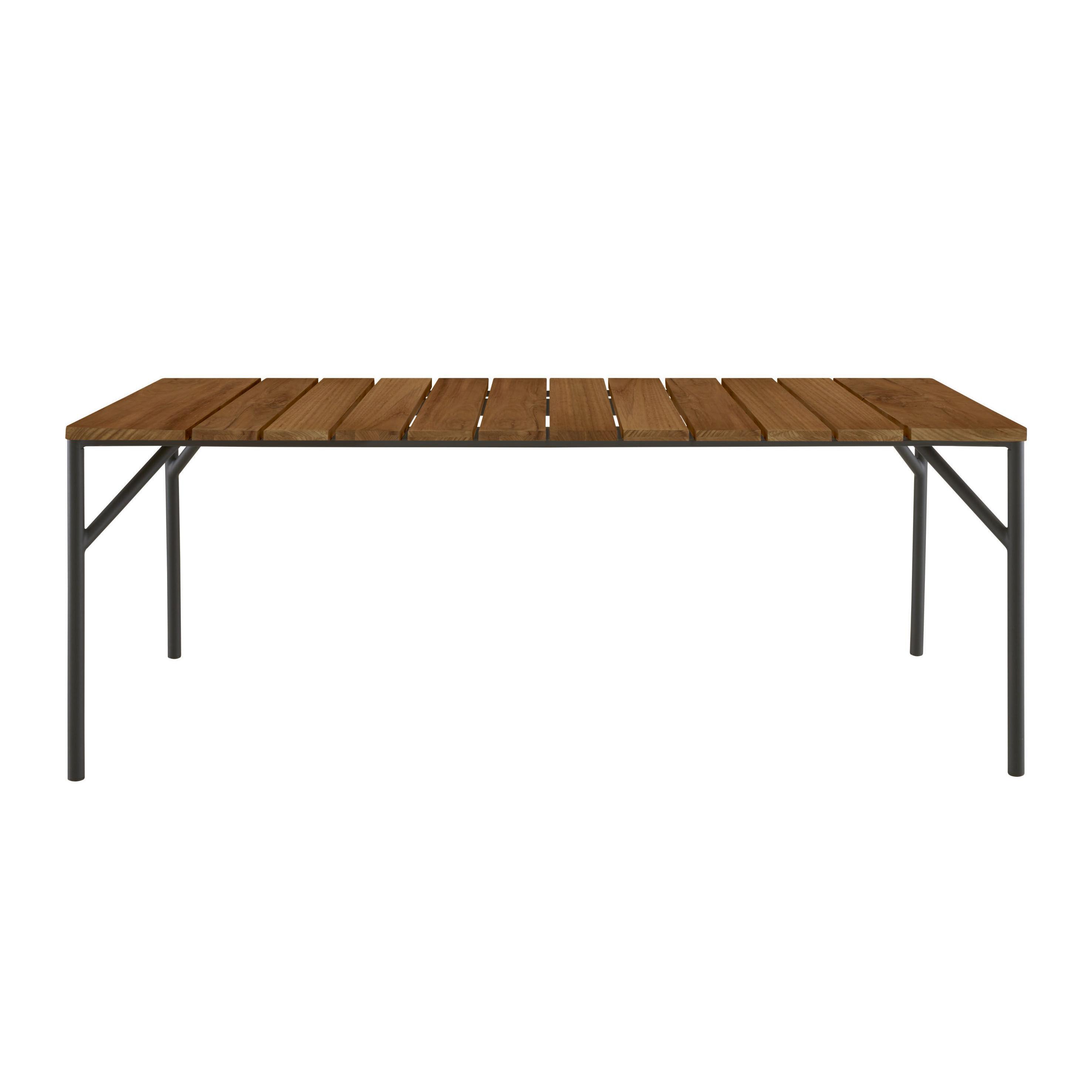 Table rectangulaire Lapel / 200 x 90 cm - Teck - Cinna bois naturel en bois