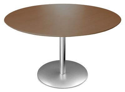 Table ronde Rondo / Ø 120 cm - Lapalma wengé en métal