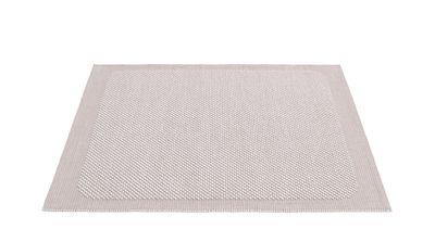 Interni - Tappeti - Tappeto Pebble - / Tessuto a mano - 170 x 240 cm di Muuto - Rosa tenue - Fibre di iuta, Lana