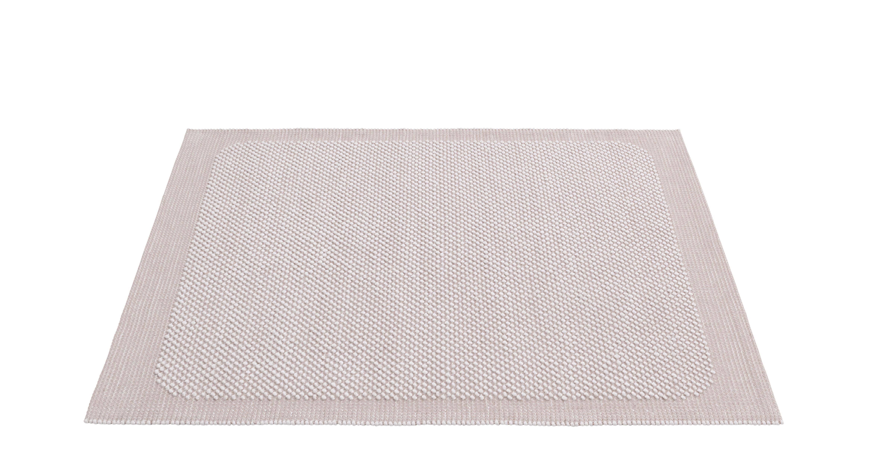 Interni - Tappeti - Tappeto Pebble - / Tessuto a mano - 170 x 240 cm di Muuto - Rosa tenue - Fibres de jute, Lana
