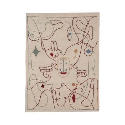 Interni - Tappeti - Tappeto Silhouette - / By Jaime Hayon - 170 x 240 cm / Lana di Nanimarquina - 170 x 240 cm / Beige & multicolore - Lana