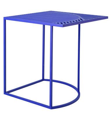 Arredamento - Tavolini  - Tavolino Iso-B / 46 x 46 x H 48 cm - Petite Friture - Blu - Acciaio laccato
