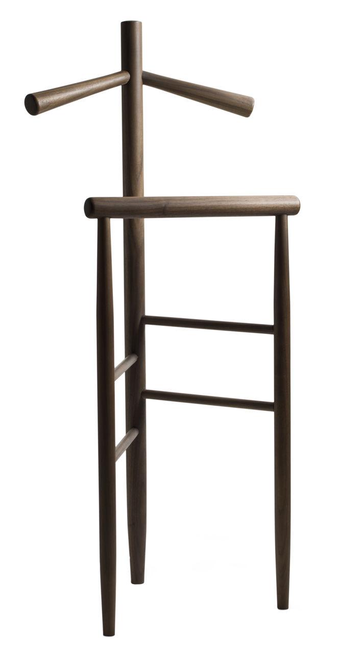 Arredamento - Complementi d'arredo - Valletto da camera Mori - / Legno - H 105 cm di Internoitaliano - Noce - Noce massello