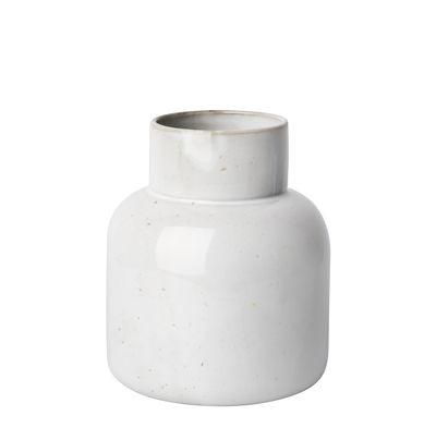 Déco - Vases - Vase Earthenware Jar / Ø 17 x H 21 cm - Fait main - Fritz Hansen - Gris pâle - Faïence émaillée