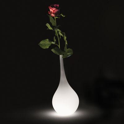 Vase lumineux Ampoule / H 35 cm - LED - Indoor - MyYour blanc en matière plastique