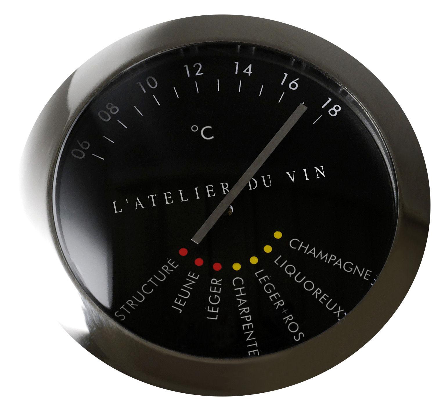 Tischkultur - Bar, Wein und Apéritif - Wein-Thermometer - L'Atelier du Vin - Edelstahl - rostfreier Stahl