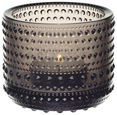 Dekoration - Kerzen, Kerzenleuchter und Windlichter - Kastehelmi Windlicht / H 6,4 cm - Iittala - Gewittergrau - geblasenes Glas