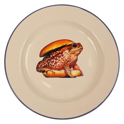 Assiette Toiletpaper - Burger / Métal - Seletti beige en métal
