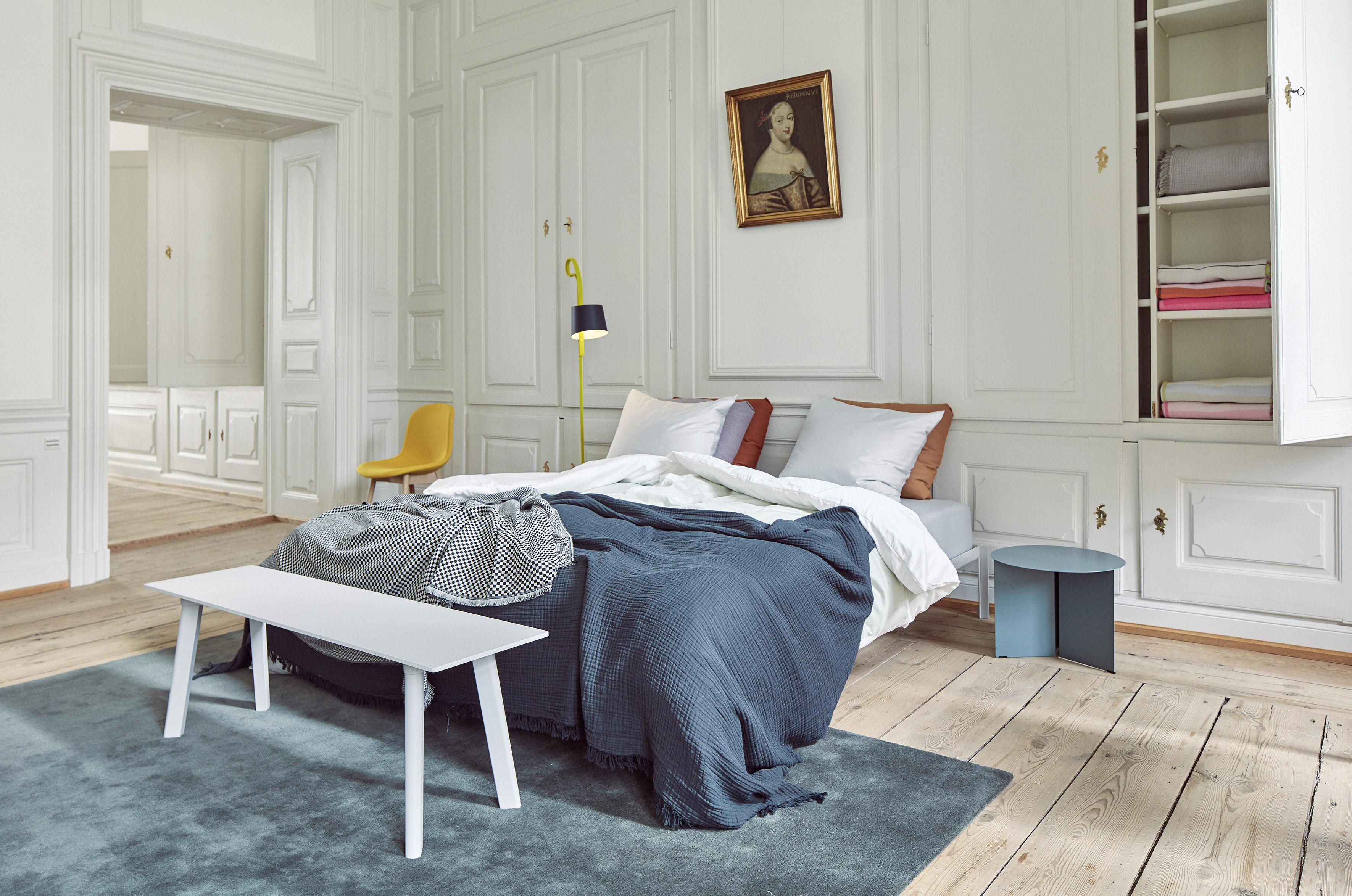 Bed Frame Connect By Hay White Made In Design Uk