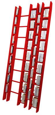 Bibliothèque Hô + / L 96 x H 240 cm - La Corbeille rouge en bois