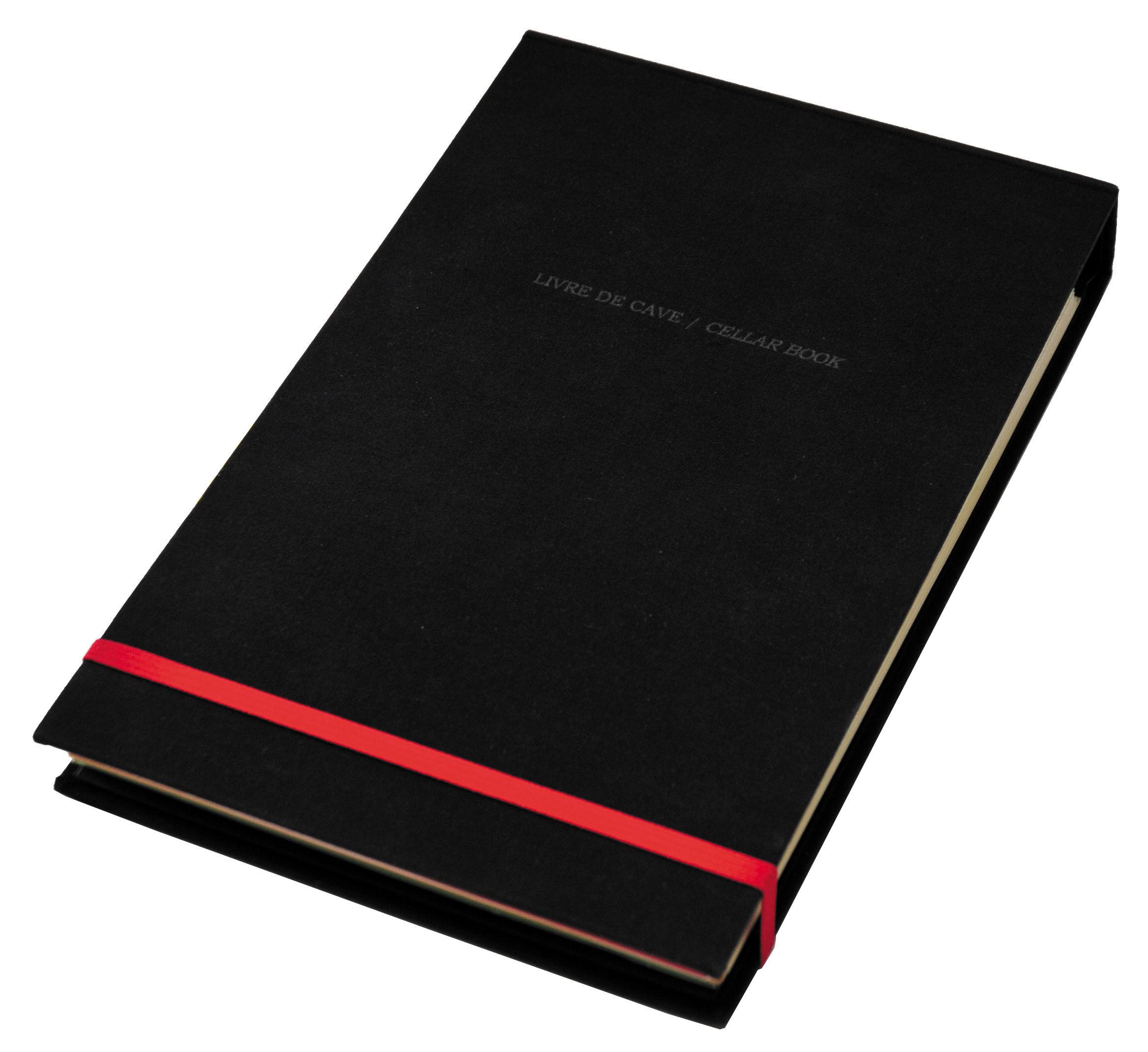 Accessori moda - Libri e Dvd - Blocchetto Livre de Cave - / Metodo di degustazione di L'Atelier du Vin - Nero / Elastico rosso - Carta, Cartone