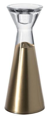 Bougeoir Festa - H 20 cm - Leonardo or en verre