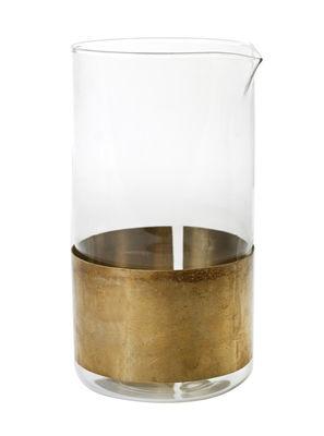Tavola - Caraffe e Decantatori - Caraffa Chemistry - / Rame - H 17 cm di Serax - Dorato / Trasparente - Rame, vetro soffiato