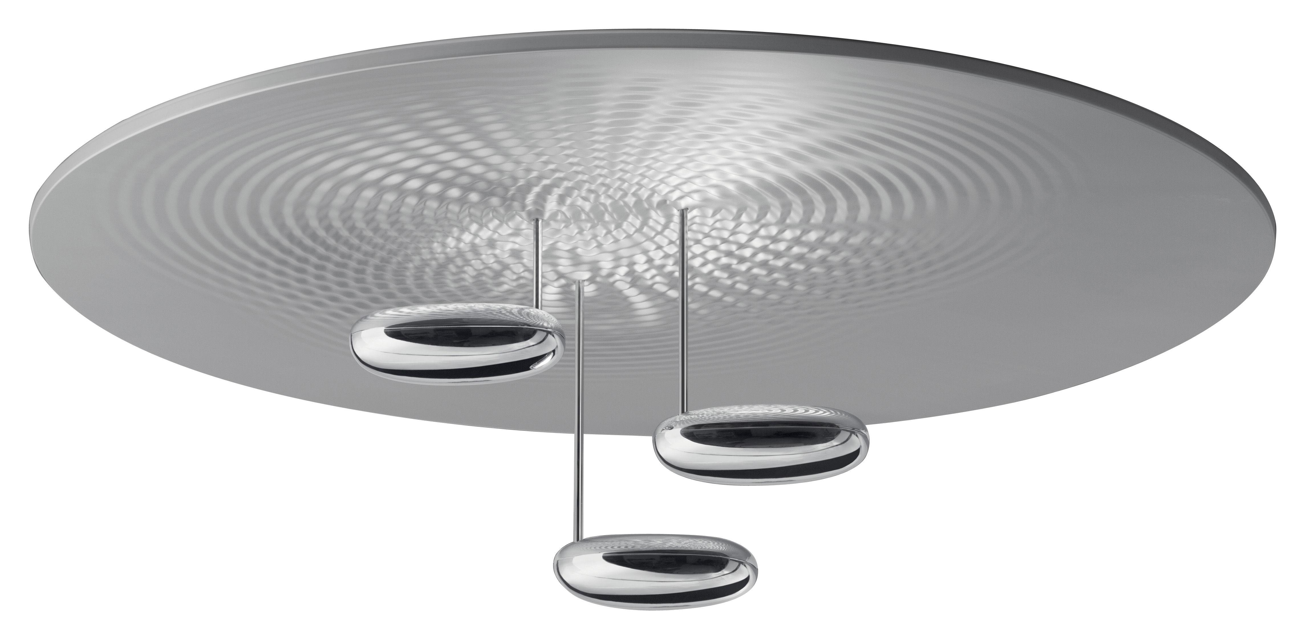 Lighting - Ceiling Lights - Droplet Ceiling light - LED by Artemide - Chromed - Chromed aluminium, Satin aluminium
