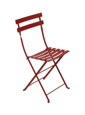 Chaise pliante Bistro / Métal - Fermob piment en métal