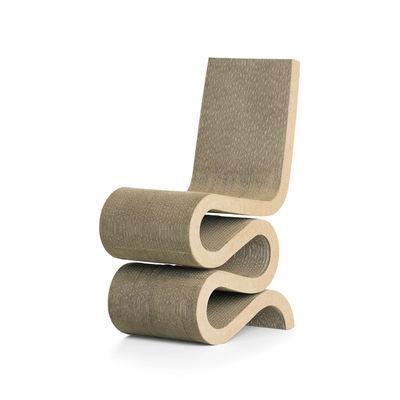 Mobilier - Chaises, fauteuils de salle à manger - Chaise Wiggle Side Chair / By Frank Gehry, 1972 - Carton - Vitra - Naturel - Carton ondulé