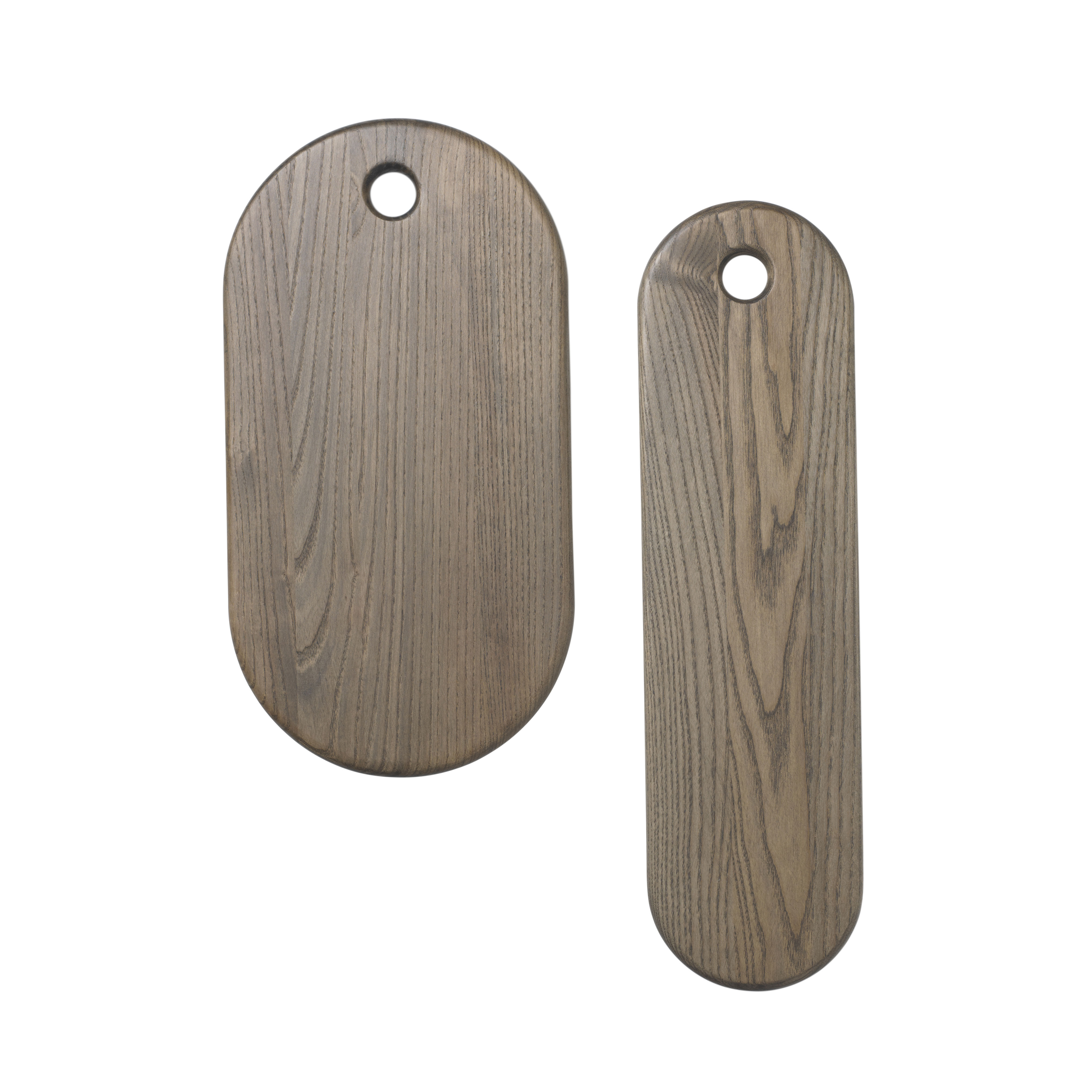 Kitchenware - Kitchen Equipment - Stage Chopping board - / Set of 2 - Ash by Ferm Living - Rustic grey - Frêne massif verni
