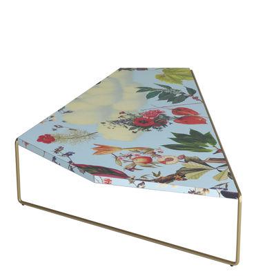 Furniture - Coffee Tables - Zagazig Coffee table - / 113 x 74 cm x H 27 cm by Driade - Flowers / Blue background - HPL, Steel
