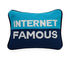 Internet Cushion - / 30.5 x 23 cm - Hand-embroidered by Jonathan Adler