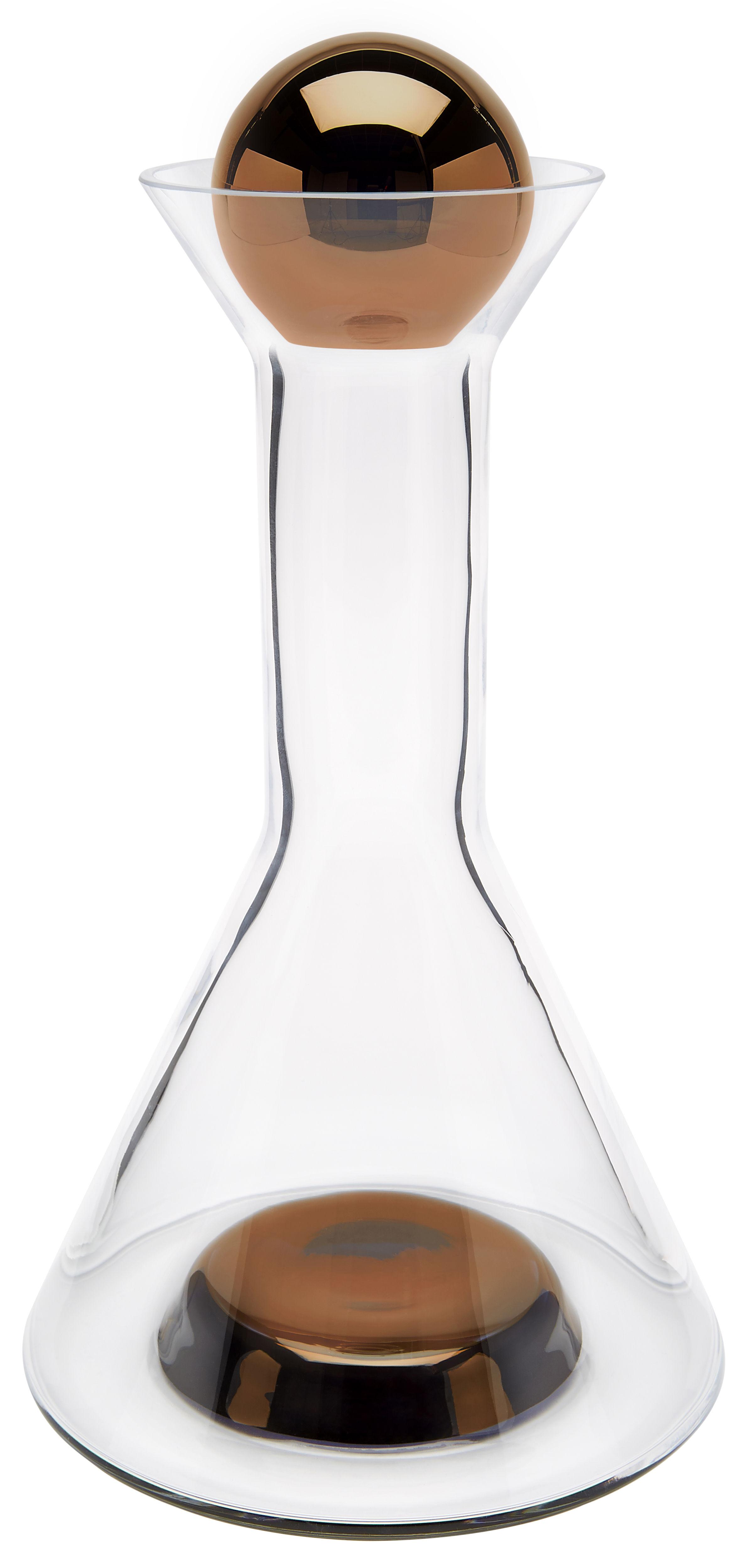 Arts de la table - Carafes et décanteurs - Décanteur Tank / Ø 17 x H 27 cm - Tom Dixon - Transparent / Cuivre - Verre soufflé bouche