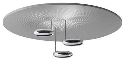 Leuchten - Deckenleuchten - Droplet Deckenleuchte LED - Artemide - Verchromt - satiniertes Aluminium, verchromtes Aluminium