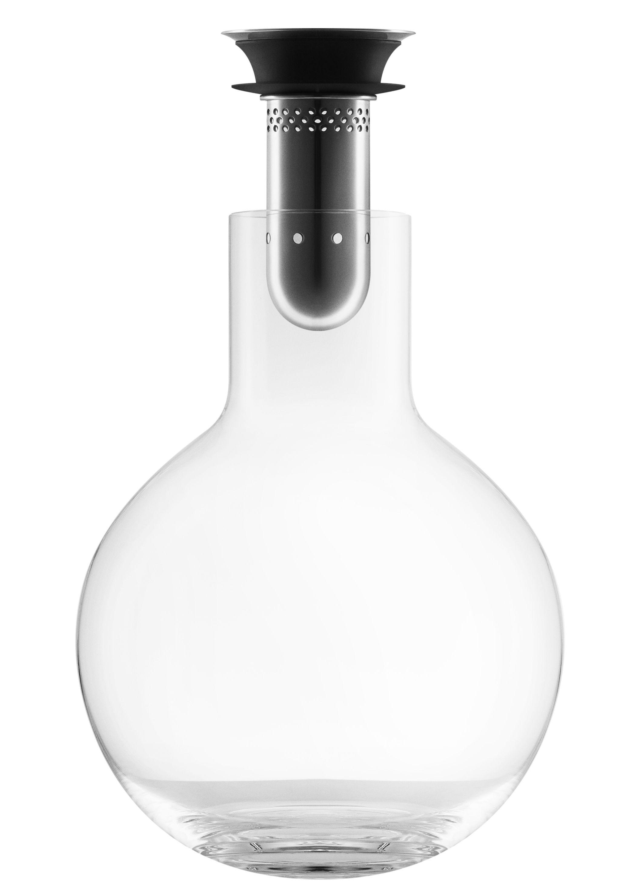Tischkultur - Karaffen - Dekantierer 0,75 l / Weinbelüfter - Eva Solo - Transparent - mundgeblasenes Glas, rostfreier Stahl, Silikon