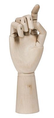 Dekoration - Dekorationsartikel - Wooden Hand Large Dekoration / H 22 cm - Holz - Hay - H 22 cm / Holz natur - Bois naturel