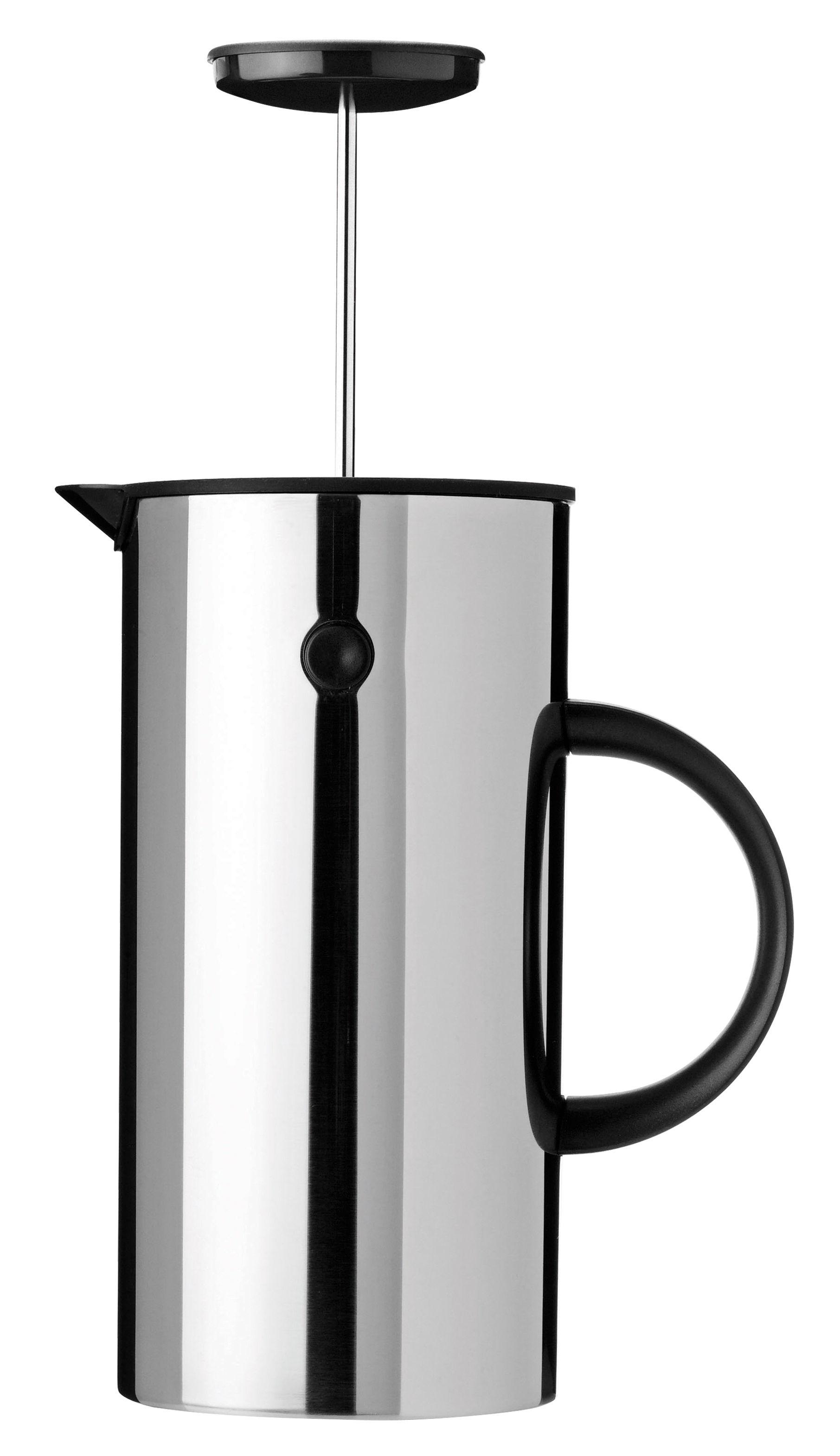 Küche - Kaffekannen - Classic Druckkolben-Kaffeemaschine / fasst 8 Tassen - Stelton - Stahl - ABS, Acier inoxydable 18/10