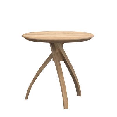 Furniture - Coffee Tables - Twist Medium End table - / Solid oak - Ø 46 cm by Ethnicraft - Ø 46 cm / Oak - Solid oak