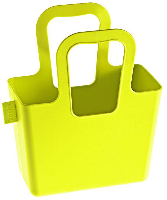 Dekoration - Badezimmer - Taschelini Korb - Koziol - Senf - Plastikmaterial