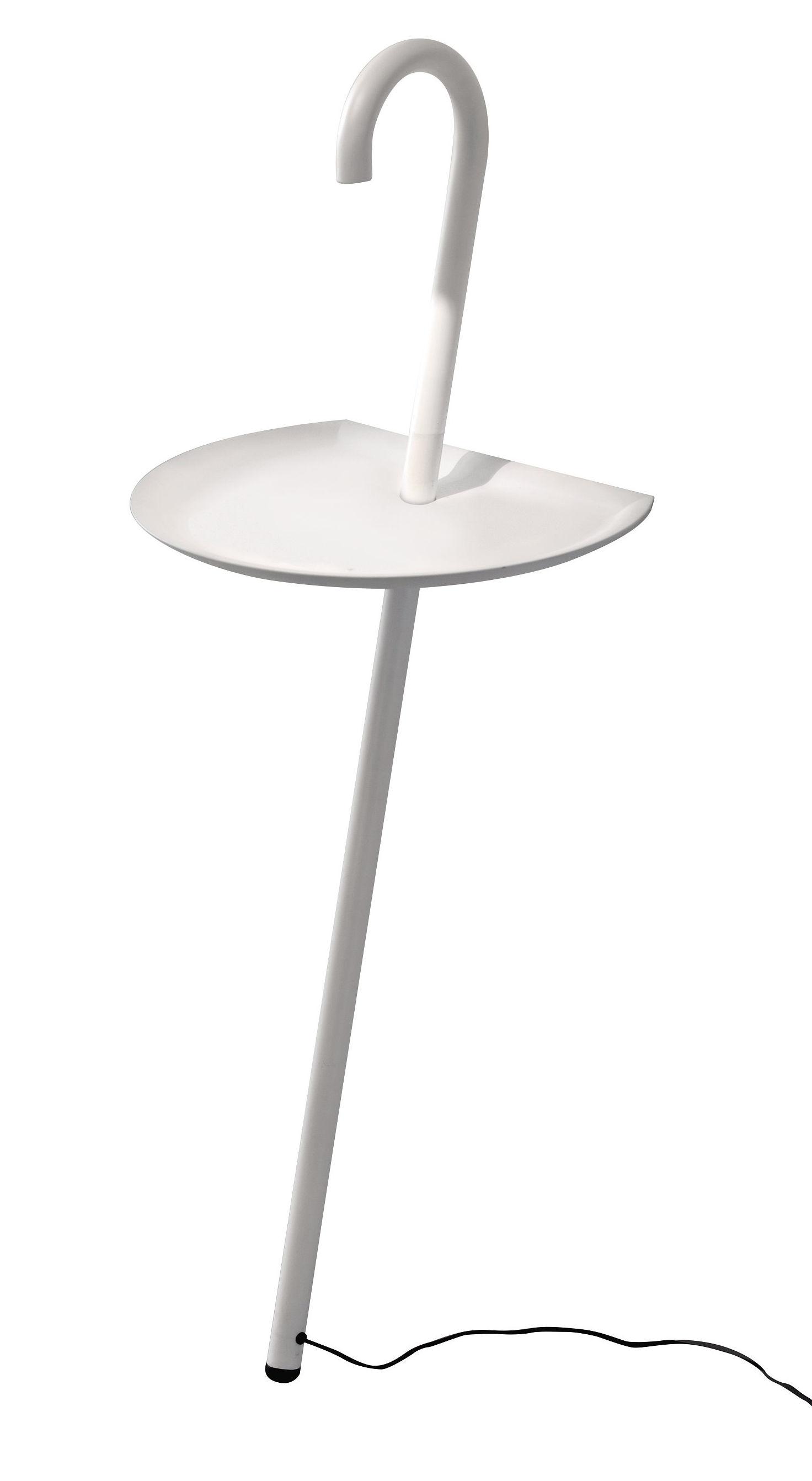 Mobilier - Tables basses - Lampe Clochard LED / Guéridon - Martinelli Luce - Blanc - Métal peint, Polyuréthane