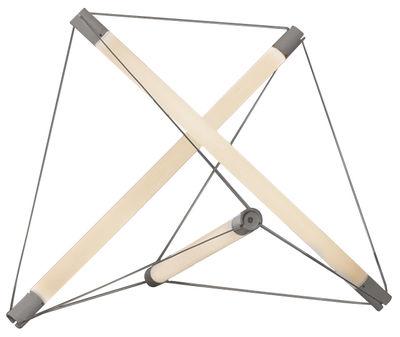 Luminaire - Lampes de table - Lampe de table Light Structure Three / LED - Ingo Maurer - Blanc / Argent - Métal, Verre