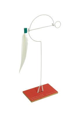 Déco - Pour les enfants - Mobile Mono-plume à poser - L'atelier d'exercices - Métal - Plume blanche - Acier, Bois, Plume
