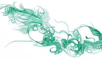 Déco - Stickers, papiers peints & posters - Papier peint Verde / 1 lé - Domestic - Verde / Vert - Papier intissé