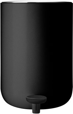 Decoration - For bathroom - Pedal bin - With pedal - 7 L by Menu - Black - Plastic, Stainless steel