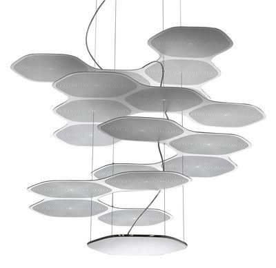 Space Cloud Pendelleuchte LED - Artemide - Aluminium