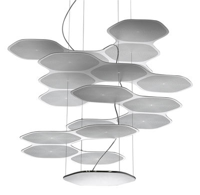Space Cloud Pendelleuchte LED - Artemide - Aluminium