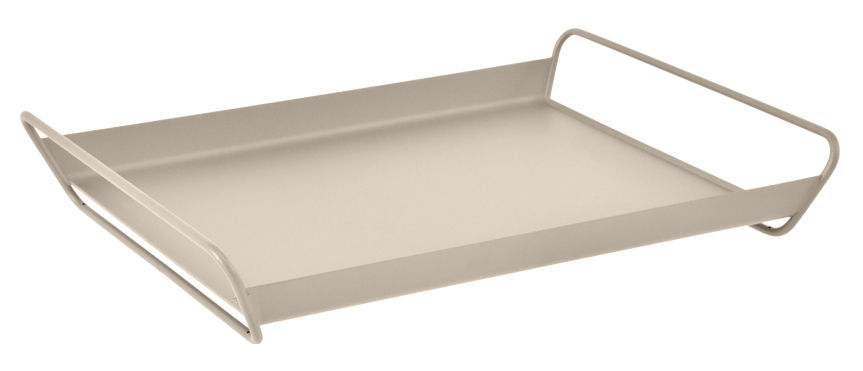Tavola - Vassoi  - Vassoio Alto / Acciaio - 53 x 38,5 cm - Fermob - Noce moscata - Acciaio elettrozincato