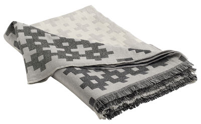 Dekoration - Wohntextilien - Plus9 Plaid / 215 x 145 cm - Hay - Grau - Wolle