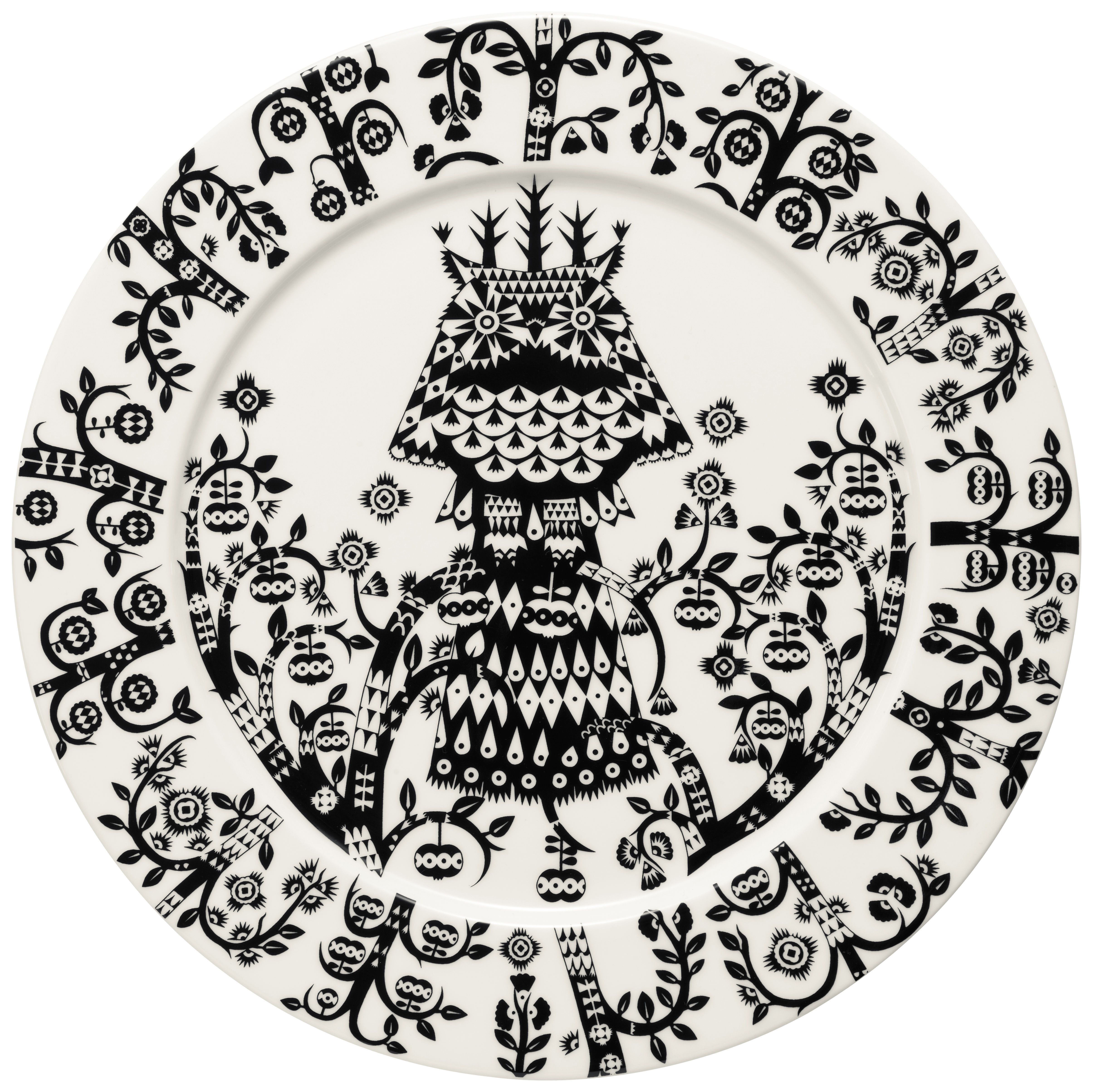 Tableware - Plates - Taika Plate by Iittala - Black - China
