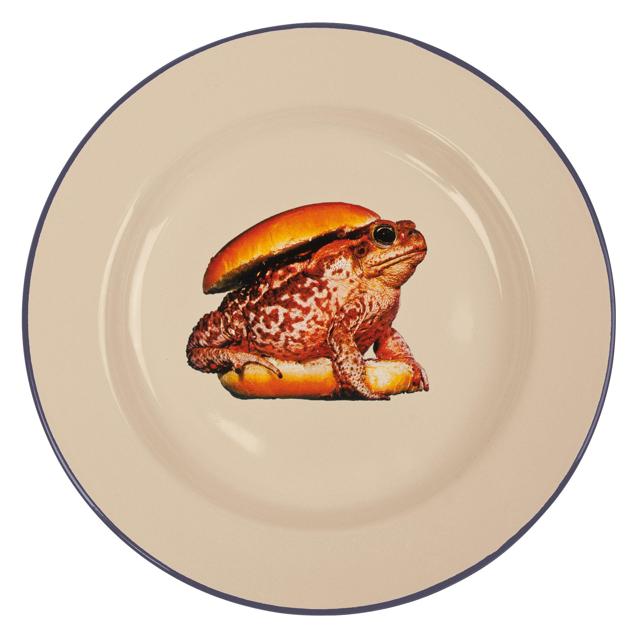 Tableware - Plates - Toiletpaper - Burger Plate - / Froge Burger by Seletti - Froge burger - Enamelled metal