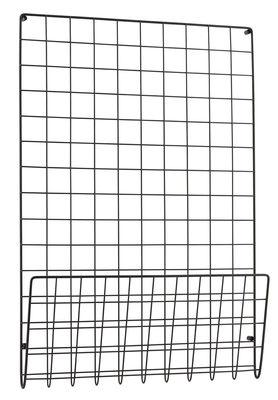 Rangement mural Mesh / Porte-revues - L 50 x H 72,5 cm - House Doctor noir en métal