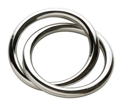 Rond de serviette Oui - Alessi acier brillant en métal