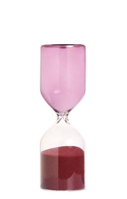 Déco - Objets déco et cadres-photos - Sablier Cylindre / 30 minutes - H 18 cm - & klevering - H 18 cm / Violet - sable, Verre
