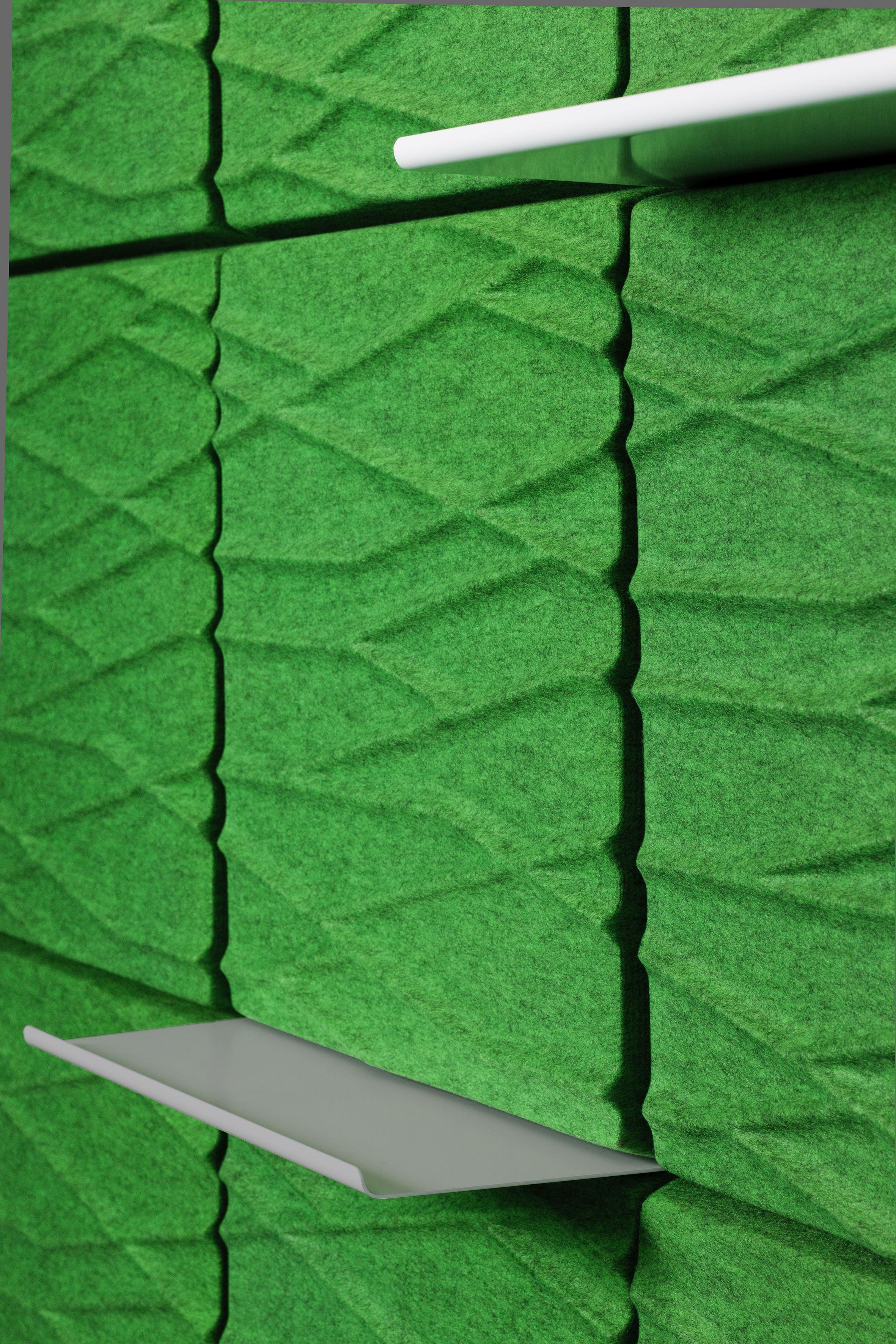 Arredamento - Scaffali e librerie - Scaffale - per pannello murale acustico Soundwave - L 58,5 cm di Offecct - Grigio chiaro - metallo laccato