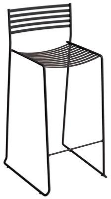 Arredamento - Sgabelli da bar  - Sedia da bar Aero - / H 64 cm - Metallo di Emu - Ferro antico - Acciaio laccato