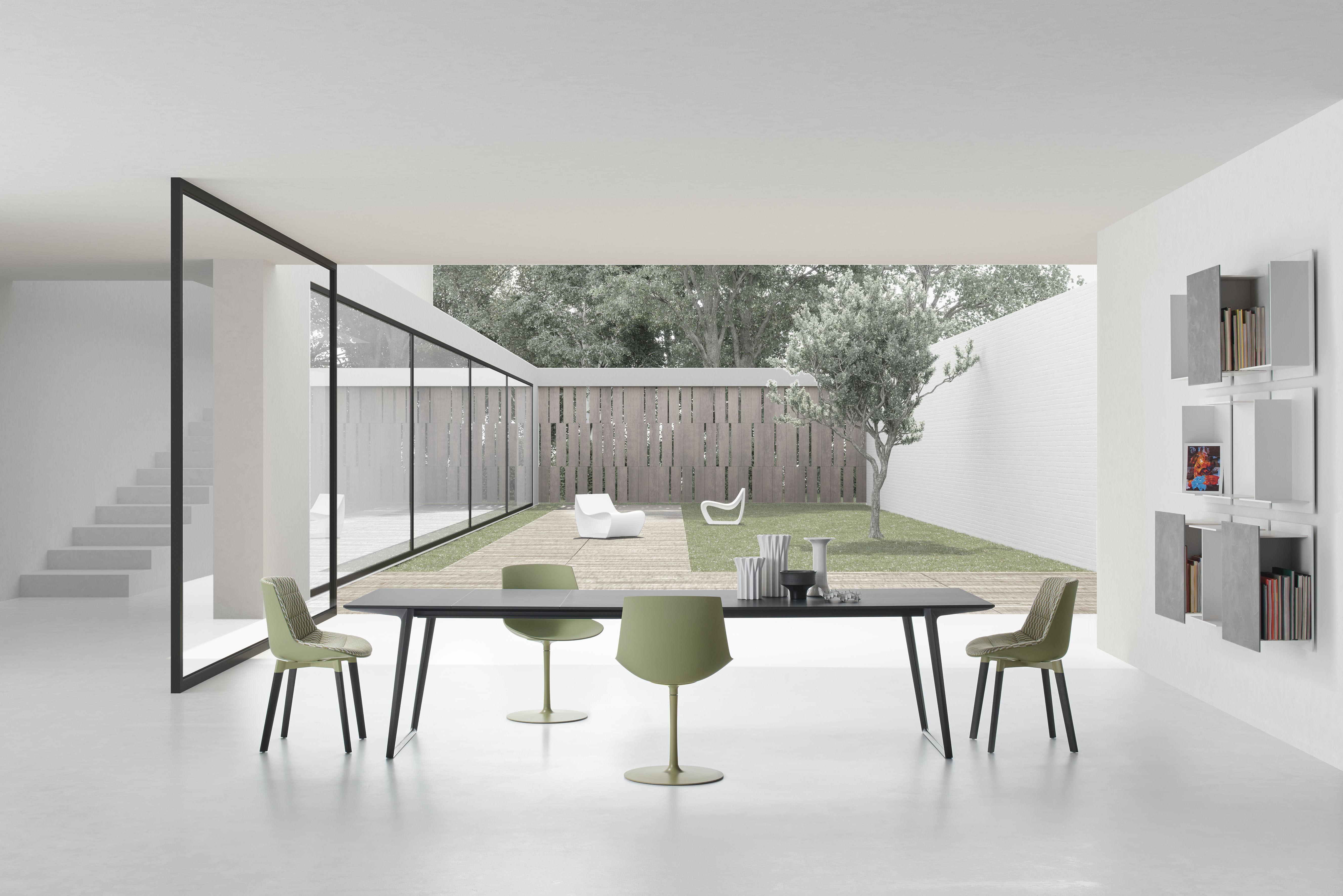 Sedia Imbottita Design : Scopri sedia imbottita flow color 4 piedi cross rovere blu